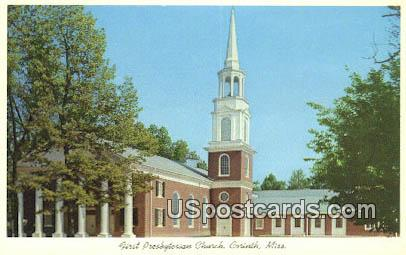First Presbyterian Church - Corinth, Mississippi MS Postcard