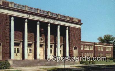 EE Bass Junior High School - Greenville, Mississippi MS Postcard