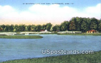 Lake View Park - Hattiesburg, Mississippi MS Postcard