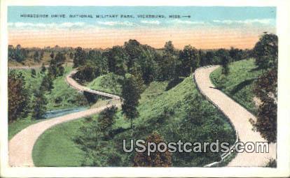 Horseshoe Drive, Military Park - Vicksburg, Mississippi MS Postcard