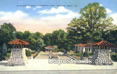 Zoo, Livingston Park - Jackson, Mississippi MS Postcard
