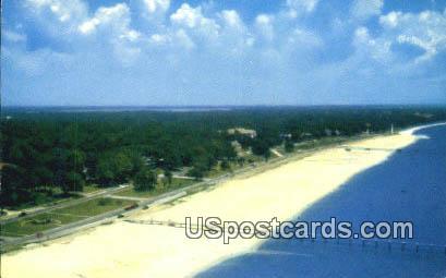 Highway & Beach - Mississippi Gulf Coast Postcards, Mississippi MS Postcard