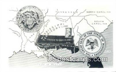 Spanish Cession - Gulf of Mexico, Mississippi MS Postcard