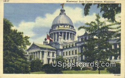 Mississippi State Capitol - Jackson Postcard