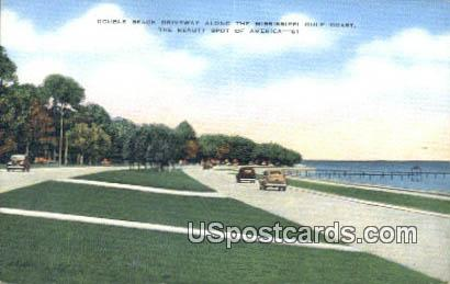 Double Beach Driveway - Mississippi Gulf Coast Postcards, Mississippi MS Postcard