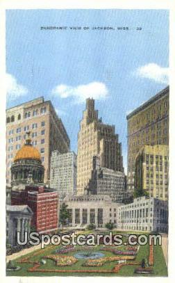 Jackson MS, Postcard       ;       Jackson Mississippi,