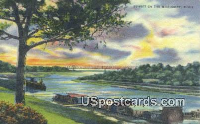 Mississippi River Mississippi, Postcard       ;       Mississippi River MS, - Mississippi River Postcards