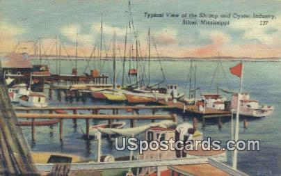 Shrimp & Oyster Industry - Biloxi, Mississippi MS Postcard