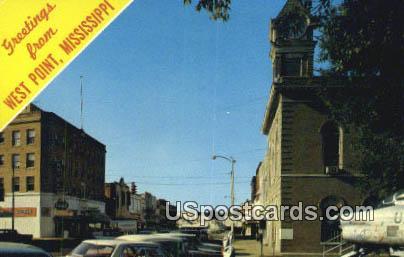 Commerce Street - West Point, Mississippi MS Postcard