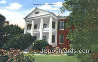 Rosalie - Natchez, Mississippi MS Postcard