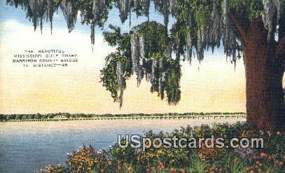 Harrison County Bridge - Mississippi Gulf Coast Postcards, Mississippi MS Postcard