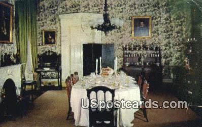 Dining Room, Lansdowne - Natchez, Mississippi MS Postcard
