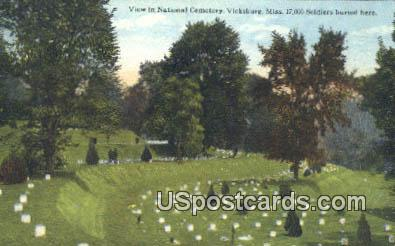 National Cemetery - Vicksburg, Mississippi MS Postcard