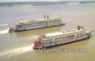 Mississippi Queen & Delta Queen - Vicksburg Postcard