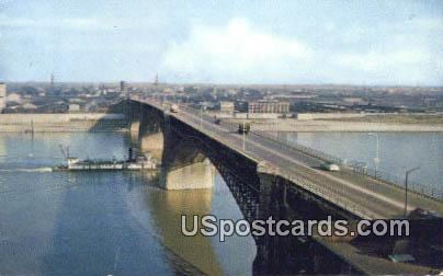 Eads Bridge - St. Louis, Mississippi MS Postcard