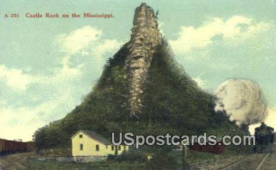 Castle Rock Mississippi, Postcard       ;       Castle Rock MS,
