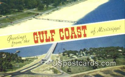 Mississippi Gulf Coast MS, Postcard       ;       Mississippi Gulf Coast Mississippi, - Mississippi Gulf Coast Postcards