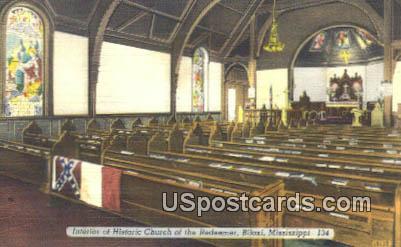 Historic Church of the Redeemer - Biloxi, Mississippi MS Postcard