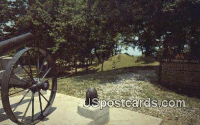 Fort Pemberton Park - Greenwood, Mississippi MS Postcard