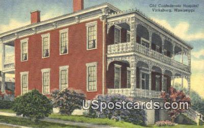 Old Confederate Hospital - Vicksburg, Mississippi MS Postcard
