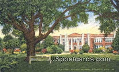 Gulf Coast Military Academy - Gulfport, Mississippi MS Postcard
