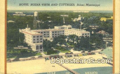 Hotel Buena Vista & Cottages - Biloxi, Mississippi MS Postcard