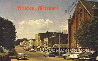 Main Street - Weston, Mississippi MS Postcard