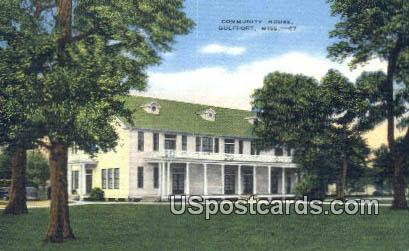 Community House - Gulfport, Mississippi MS Postcard