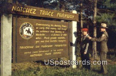 Natchez Trace Parkway Mississippi, Postcard       ;       Natchez Trace Parkway MS,