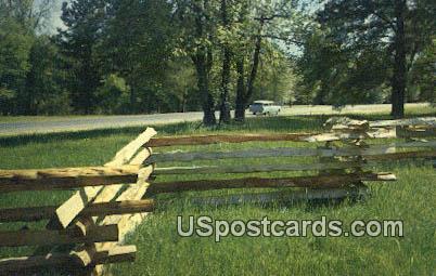 Split Rail Fence - Natchez Trace Parkway, Mississippi MS Postcard