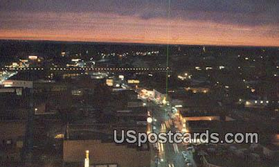 Downtown, Amite Street - Jackson, Mississippi MS Postcard