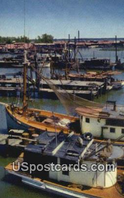 Shrimp Boats - Misc, Mississippi MS Postcard