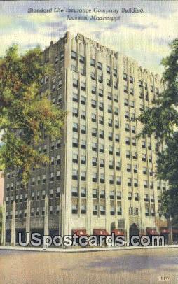 Standard Life Insurance Company Building - Jackson, Mississippi MS Postcard