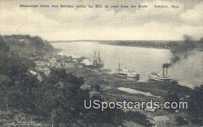 Mississippi River - Natchez Postcard