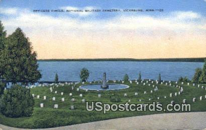 Officers Circle, National Military Cemetery - Vicksburg, Mississippi MS Postcard