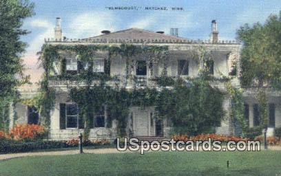 Elmscourt - Natchez, Mississippi MS Postcard