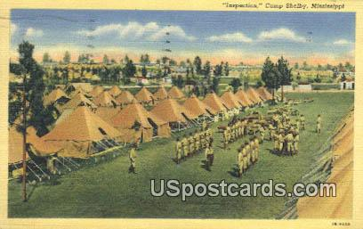 Inspection - Camp Shelby, Mississippi MS Postcard