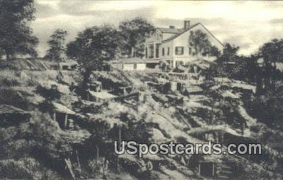 Old Shirley House, Union Dugouts - Vicksburg, Mississippi MS Postcard