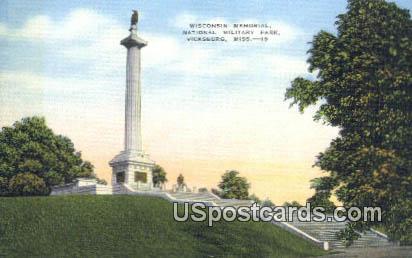 Wisconsin Memorial, National Military Park - Vicksburg, Mississippi MS Postcard
