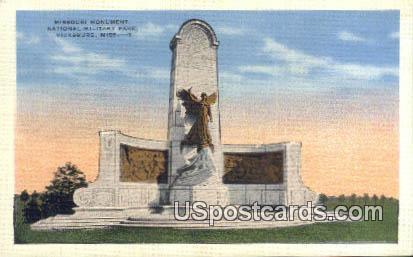 Missouri Monument, National Military Park - Vicksburg, Mississippi MS Postcard