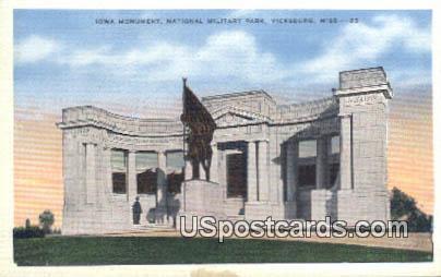 Iowa Monument, National Military Park - Vicksburg, Mississippi MS Postcard