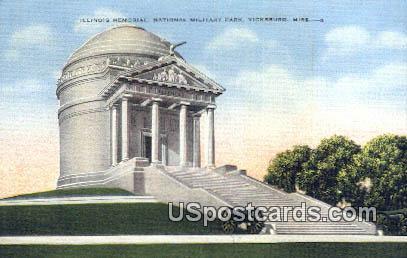 Illinois Memorial National Military Park - Vicksburg, Mississippi MS Postcard