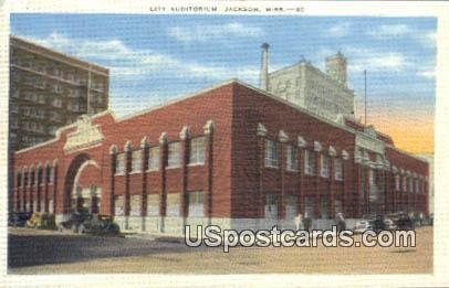 City Auditorium - Jackson, Mississippi MS Postcard