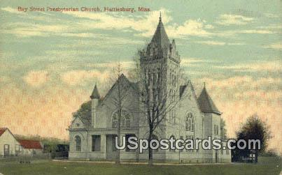 Bay Street Presbyterian Church - Hattiesburg, Mississippi MS Postcard