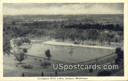 Livingston Park Lakes - Jackson, Mississippi MS Postcard