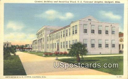 Clinical Building, US Veterans Hospital - Gulfport, Mississippi MS Postcard