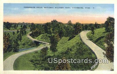 Horseshoe Drive, National Military Park - Vicksburg, Mississippi MS Postcard