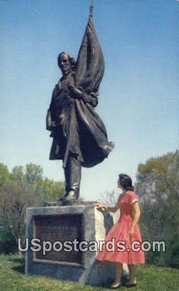 Jefferson Davis Statue - Vicksburg National Military Park, Mississippi MS Postcard