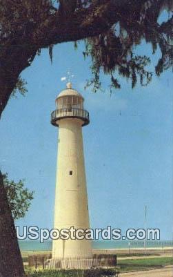 Historic Old Lighthouse - Biloxi, Mississippi MS Postcard