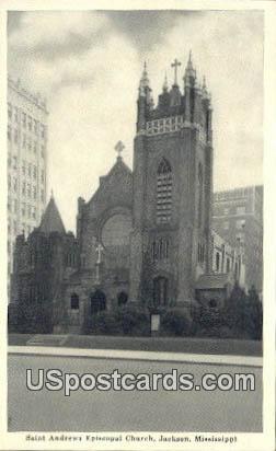 Saint Andrews Episcopal Church - Jackson, Mississippi MS Postcard